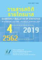 วารสารสถิติรายไตรมาส ปีที่ 67 ไตรมาสที่ 4 พ.ศ. 2562<br>(Quarterly Bulletin of Statistics Volum 67, Quarter 4, 2019)